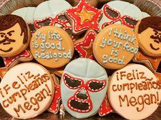 Nacho Libre Royal Icing Sugar Cookies by @cookiesbykatewi #nacholibre #luchador…