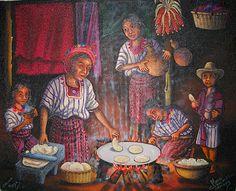 Haciendo tortillas. Mario Gonzalez Chavajay. Guatemala.
