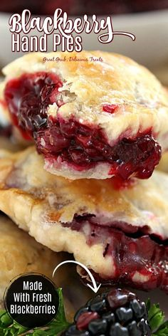 Blackberry Hand Pies are a delicious hand pie recipe stuffed with a homemade blackberry sauce. Informations About Blackberry Hand Pies P Mini Desserts, Just Desserts, Delicious Desserts, Yummy Food, Cookie Desserts, Oreo Dessert, Pie Recipes, Dessert Recipes, Cooking Recipes