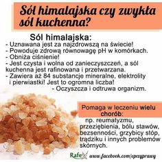 Sól himalajska Health Eating, Healthy Tips, Good To Know, Spices, Food And Drink, Health Fitness, Herbs, Dishes, Cooking