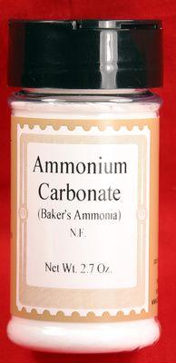 Bakers Ammonia - Hartshorn - Ammonium Carbonate 2.7 oz