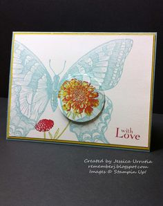 Spotlight Technique with Stampin'Up!  Love this Swallowtail Butterfly...so many possibilities.
