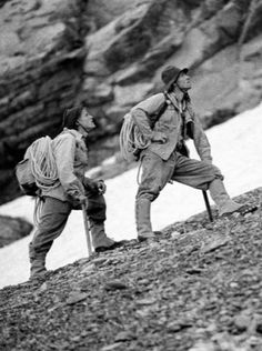 Andreas Hinterstoisser and his childhood friend, Toni Kurz died climbing Eiger´s North Face in 1936.