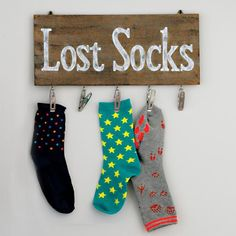 Lost Socks Sign with clips from Avon Living Home Decor - Spring 2016