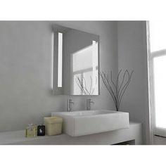 Hapilife 60 LED Illuminated Bathroom Mirror Demister Pad Shaver Socket IP44 Sensor 50x39cm NO Cabinet