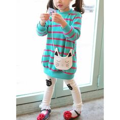 1e5d861a0ed Girls  Cute Stripe Going out Long Sleeve Clothing Sets (30145329566