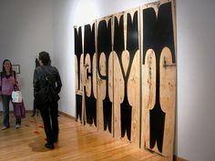 Huge Wood Type by Cranky Pressman, via Flickr