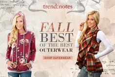 Shop Trend notes' 12 best selling outerwear products on FashionGo: Fall Collections, Notes, Good Things, Blouse, Shopping, Products, Fashion, Blouse Band, Moda