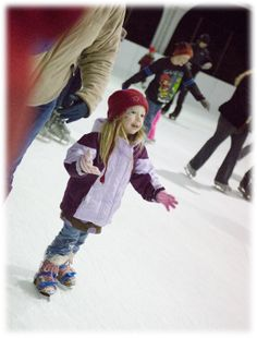 little girl skating