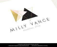 Boho Logo Geometric Triangle EPS PSD by Maggie Molloy on @creativemarket