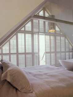 Shutters from Steve's Blinds. For all those 'hard to cover' windows!