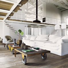 Industrial chic in white