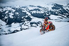 "Watch Marc Marquez Ride a MotoGP Bike Up a Ski Slope  When asked why he climbed Mt. Everest, George Mallory uttered the three most famous words in mountainering, ""because it's there."" Marc Marquez's assent of the Kitzbühel ski slope might not be as profound, but in typical Red Bull style, it was certainly lurid. Armed with a Honda RC213V race bike […]  The post  Watch Marc Marquez Ride a MotoGP Bike Up a Ski Slope  appeared first on  Asphalt & Rubber ."