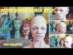 Paper mache human head! Very realistic!!!