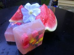 Natural Organic Soap  Kiss Me Melon by thepurplehbird on Etsy, $12.24 Looks so refreshing!!!! Want!!!