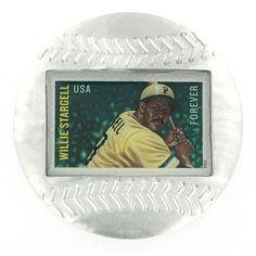 Willie Stargell Genuine US Postage Stamp Baseball Paperweight