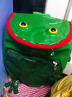 Funny frog backpack from Froglife: http://shop.froglife.org/shop/ProductDetailLandscape.aspx?ID=74