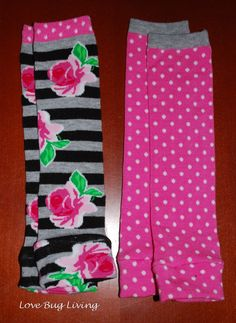 Love Bug Living: Baby Leggings from knee socks!  So many different patterns are available with socks!