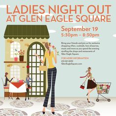 Hey, ladies! Join us for an evening of exclusive shopping offers, cocktails, hors-d'oeuvres and music on Thursday!