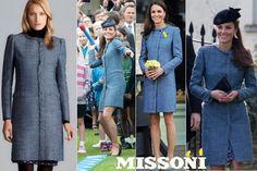 M Missoni Lurex Trim Tweed Coat