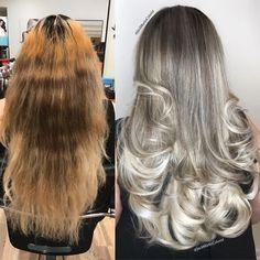 ᒍᗩᑕK ᗰᗩᖇTIᑎ (@jackmartincolorist) • Instagram photos and videos Gray Hair Highlights, Chunky Highlights, Caramel Highlights, Silver Hair Dye, Grey Hair Transformation, Transition To Gray Hair, One Hair, Short Haircut, Hair Colorist