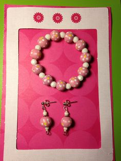 Hey, I found this really awesome Etsy listing at https://www.etsy.com/listing/202499172/childs-pink-flowered-bracelet-and