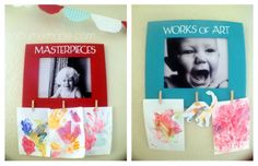 // DIY kid's artwork display