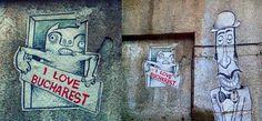 I love #Bucharest Street Installation, Best Street Art, All Friends, Graffiti, Bucharest Romania, Sculpture, Sculptures, Sculpting, Statue