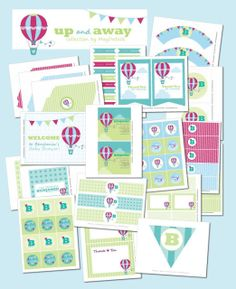 Up & Away Baby Shower Printables and ideas - Kara's Party Ideas - The Place for All Things Party