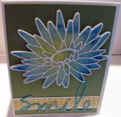 Background of water lily has been watercolored.  Card created in a class with Jenny Griffiths who is a design team member for Memory Box.
