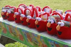 elmo easter baskets turned party favors.