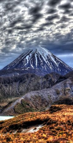 Travel Inspiration for New Zealand - Mt Ngaruahoe - Tongariro National Park, Central North Island, New Zealand