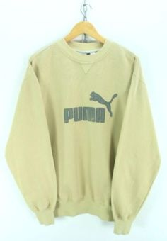 FOR SALE  Vintage PUMA Men s Crewneck Sweater Size L Yellow Longsleeves  Sweatshirt EF1220 Puma Mens 19e977f20
