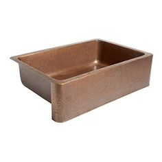Top-Rated Farmhouse Copper Sinks! Discover the best apron-front copper sinks for your kitchen. Copper sinks are very durable and the material is wonderful inside farm homes. Apron Sink Kitchen, Apron Front Sink, Single Bowl Kitchen Sink, Kitchen Sinks, Kitchen Remodel, Bar Sinks, Single Sink, Island Kitchen, Kitchen Backsplash