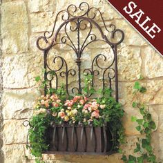 Wall Planter Outdoor Wall trellis and planter boxwould love this on my fence how was thinking of doing a trellis on an empty brick wallbut im outdoor plantersoutdoor workwithnaturefo