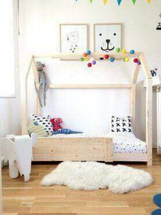 Attachment Php 7501000 In 2019 Diy Toddler Bed Kids . Montessori Floor Bed With Rails Full Or Double Size Floor . Toddler Floor Bed, Toddler Rooms, Toddler House Bed, Diy Toddler Bed, House Frame Bed, House Beds, Girl Decor, Kid Beds, Kids Beds Diy