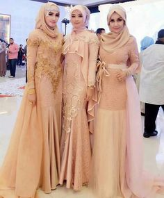 inspired by at nuritaharith - PIPicStats Muslim Gown, Kebaya Muslim, Muslim Wedding Dresses, Dress Muslim Modern, Hijab Gown, Hijab Dress Party, Hijab Style Dress, Kebaya Dress, Dress Pesta