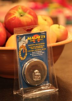 2 strong magnets that hold through glass. No nails, glue, wire, etc. - great for hanging a wreath on the door!