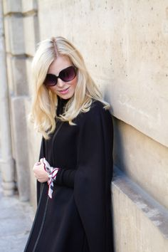 Cape, Zara / scarf, Burberry // In my ballerines