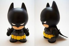 Batman Mini Munny by on deviantART - Be Batman - Ideas of Be Batman - Batman Mini Munny by on deviantART Fimo Clay, Polymer Clay Charms, Polymer Clay Projects, Polymer Clay Art, Clay Crafts, Vinyl Toys, Vinyl Art, Batman Birthday, Cute Clay