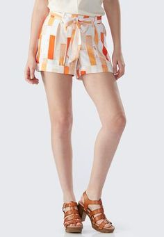 Cato Fashions Spliced Striped Dressy Shorts #CatoFashions