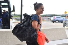 all smiles on travel day Carli Lloyd, Professional Soccer, Brazil Travel, Play Soccer, The Championship, Under Pressure, All Smiles, Best Player, One Team