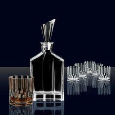 Nachtmann Aspen Whiskey Decanter 7 Piece Set