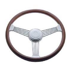 United Pacific Peterbilt 1998 On//Semi Truck 18 Chrome Lady Design Steering Wheel