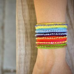 """A more """"mature"""" take on the Friendship Bracelet craze - as though that statement weren't a total oxymoron! DIY Beaded Bracelet!"""