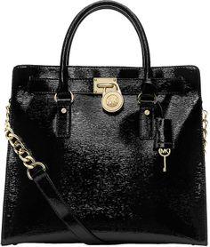 MICHAEL MICHAEL KORS Hamilton Patent Leather North/South Tote Bag