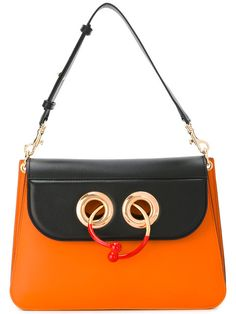 J.W.ANDERSON contrast bullring lock bag. #j.w.anderson #bags #leather #
