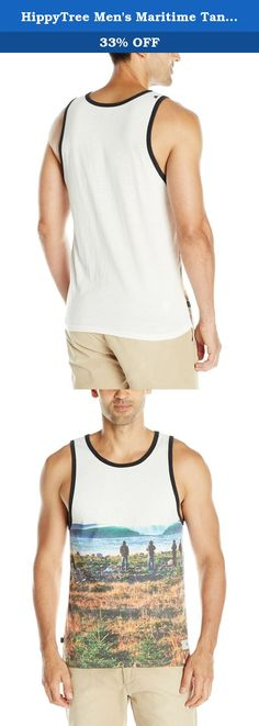 """HippyTree Men's Maritime Tank Top, Medium, White. HippyTree is the original """"surf & stone"""" apparel company. Founded in a Hermosa beach garage in 2004 by a local surfer, climber, and artist, HippyTree is dedicated to designing products and graphics that embody the surf and climbing lifestyle. Marked by the green tree logo, HippyTree is committed to softening its environmental impact by using eco-friendly materials and manufacturing. HippyTree apparel is sold in surf, outdoor, and specialty..."""