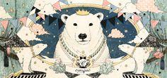 シロクマの王様 by 杏 チアキ | CREATORS BANK http://creatorsbank.com/karamomo/works/276420