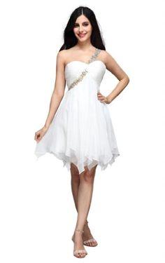 Joydress Women's Crystal A-line One Shoulder « Dress Adds Everyday